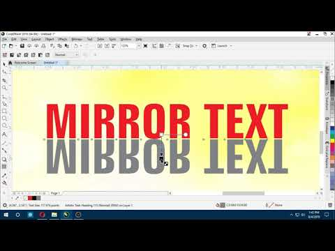 Mirror Text Effect CorelDraw 2019