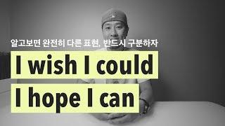 #46 I wish I could & I hope I can - 중요한 구분 [ 영어회화 ]