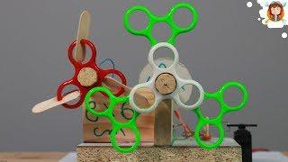 Máquina de Bolhas de Sabão usando Fidget Spinner