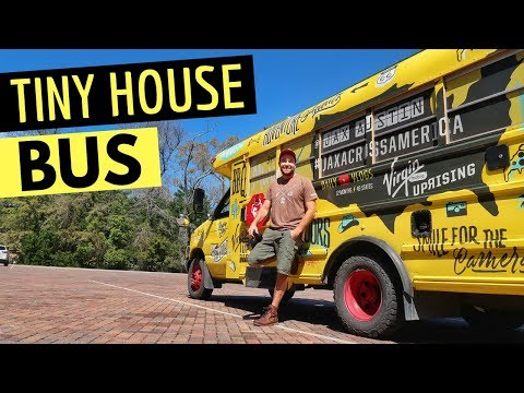 TINY HOUSE BUS CONVERSION ~ Nomadic Skoolie Life, Van Life & RV Living
