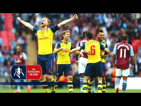 Arsenal celebrate on pitch after FA Cup win (2015) | Inside Access
