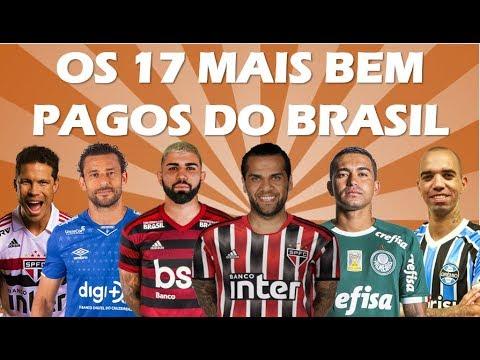 Quem são e quanto ganham os 17 jogadores mais bem pagos no Brasil