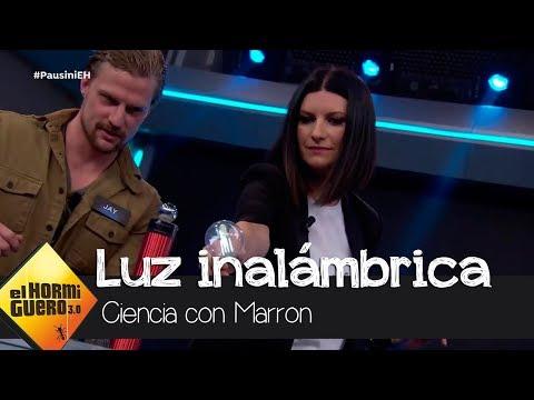 Laura Pausini crea luz inalámbrica junto a Jay Bowles  El Hormiguero 3.0