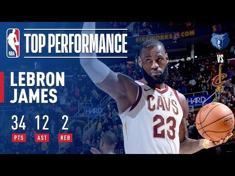 LeBron James ELECTRIC Performance vs The Grizzlies (34 points, 12 assists) | December 2, 2017