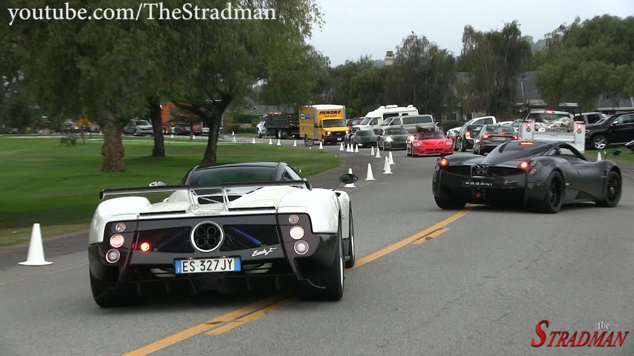 Monterey Car Week Day 4 McLaren P1 Pagani Zonda Huayra