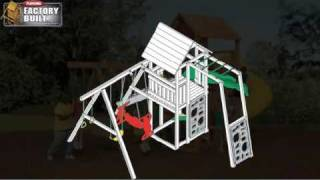 Factory Built Wooden Swingset Kits From Playstar