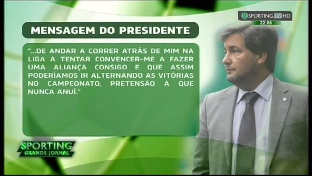 Bruno de Carvalho responde a Luis Filipe Vieira - corte de relações com o Benfica após o derby de 08/02/2015