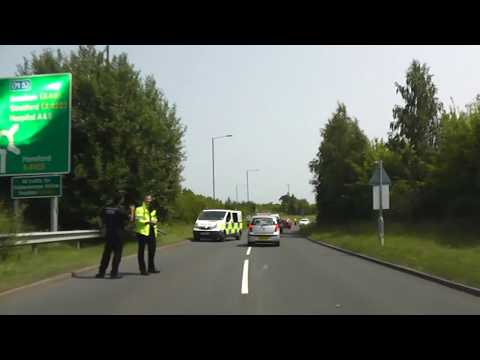 Driving Along The A44 From Knightwick To Worcester, Worcestershire, England 5th July 2013