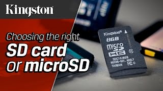 Best SD Card or microSD Card For Your Device - Kingston Technology