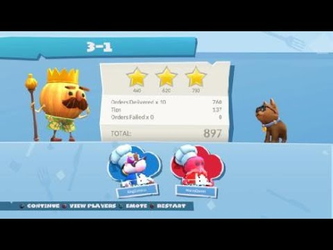Overcooked 2 Surf n turf stage 3 level 1 |