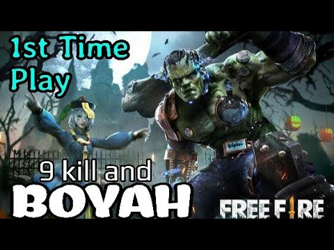 1st Time Playing Free Fire And Boyah ☺️ || Free Fire Spooky Night Gameplay || Criss Cross Gaming