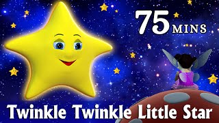 Twinkle Twinkle Little Star Nursery Rhyme - Kids Songs - 3D Animation Rhymes for Children