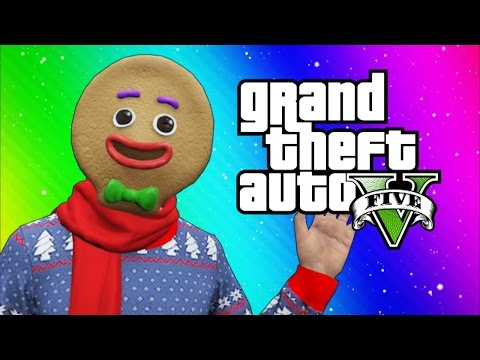 GTA 5 Online Funny Moments - Snow in Los Santos! (Snowball fights, Going to the North Pole)