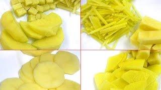 Формы нарезки овощей и фруктов