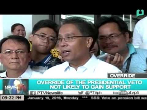 NewsLife: Override of the presidential veto not likely to gain support || Jan. 18, 2016