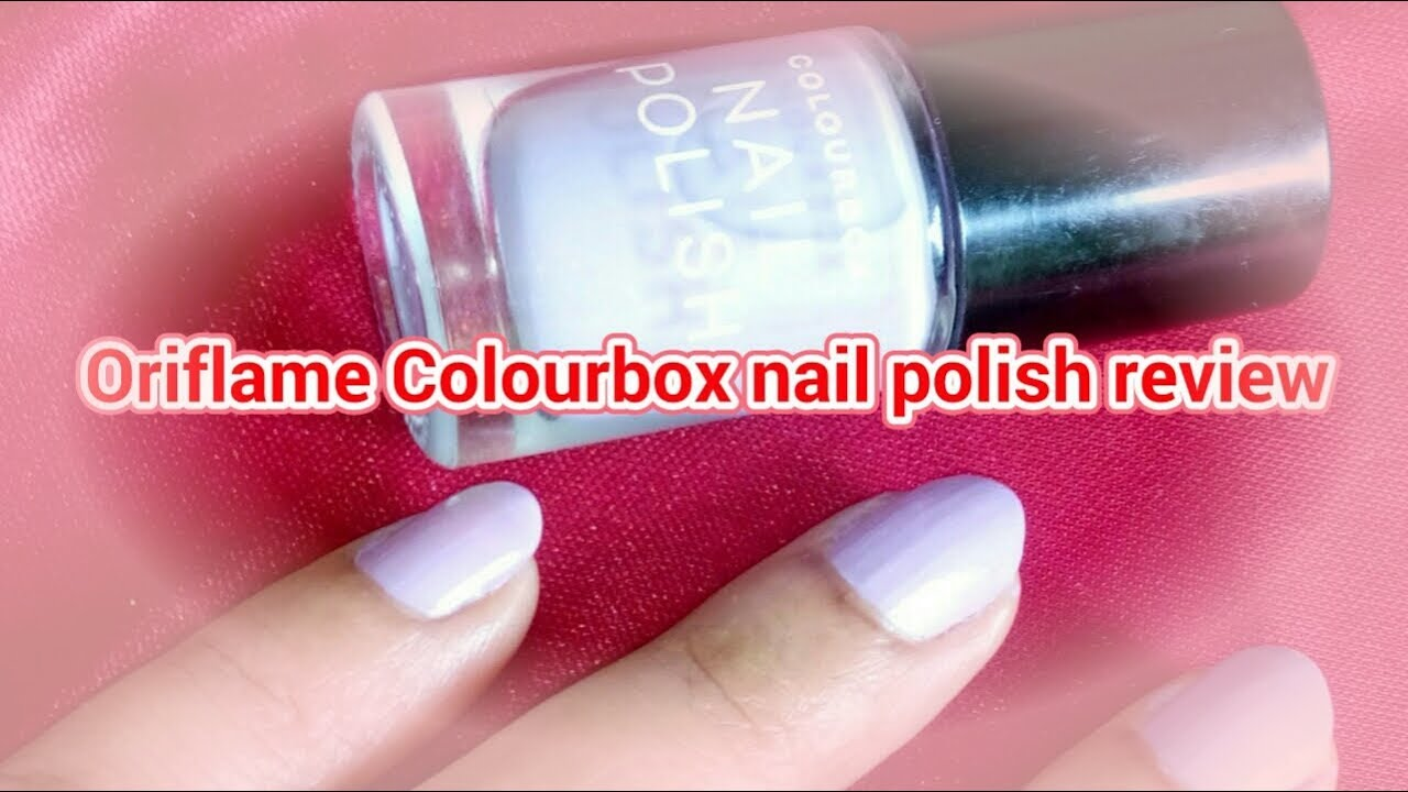 Oriflame Colourbox Nail Paint Soft Lavender Review In Hindi Youtube