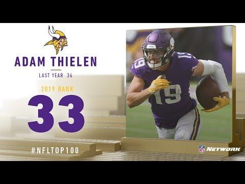 #33: Adam Thielen (WR, Vikings)   Top 100 Players of 2019   NFL