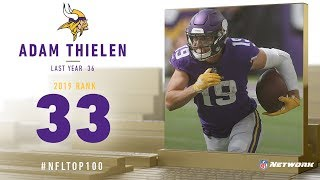 #33: Adam Thielen (WR, Vikings) | Top 100 Players of 2019 | NFL