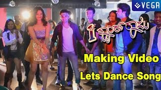 1st rank raju kannada movie lets dance song making video