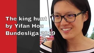 A gem from Bundesliga 2019 | The king hunt by Yifan Hou | Can you find the killer move?