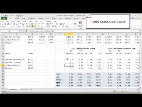 Financial Modeling Quick Lesson: Trading Comps (Part 1)