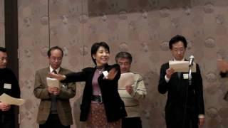 2009.1.3、四校合同同窓会、大安寺高校校歌斉唱