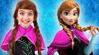 Princess Anna Has a New Hairstyle   Super Elsa
