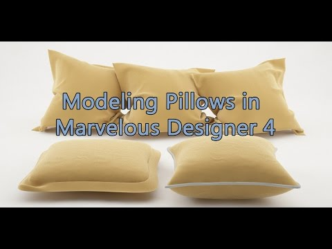 Modeling a Pillow in Marvelous Designer