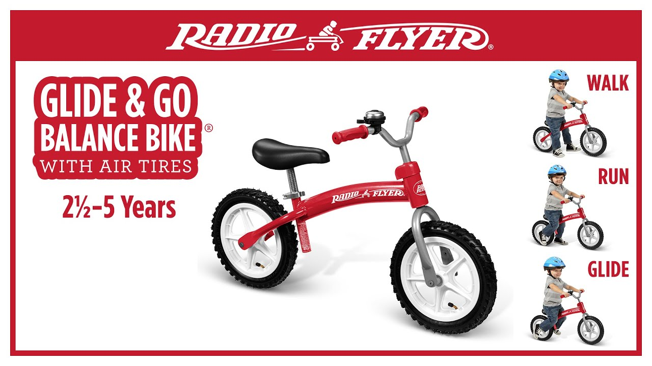 Radio Flyer Bike >> Radio Flyer Glide Go Balance Bike With Air Tires