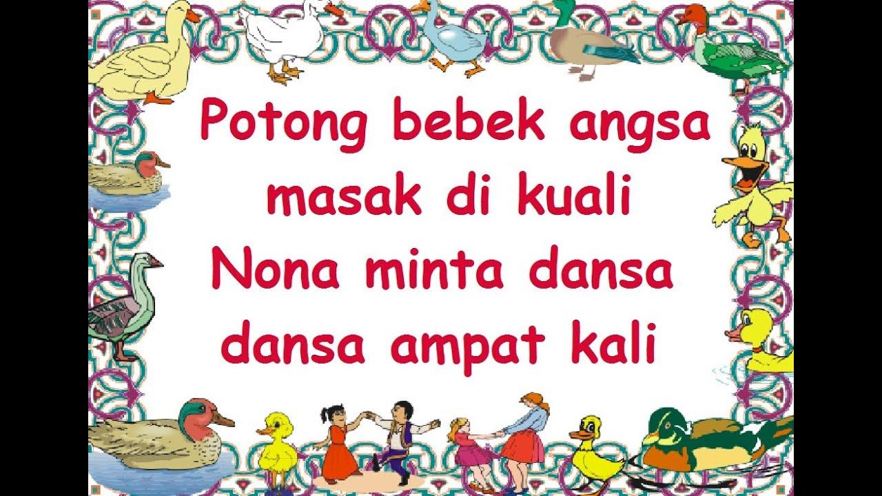 Download POTONG BEBEK (LIRIK) - Lagu Anak - Cipt. .......... - Musik Pompi S.