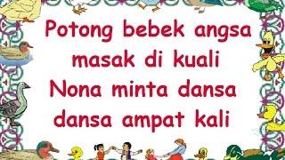 POTONG BEBEK (LIRIK) - Lagu Anak - Cipt. .......... - Musik Pompi S.