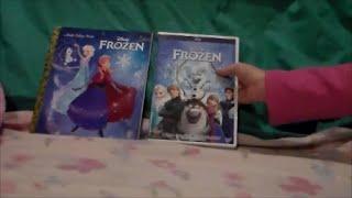 Caydee Reviews her Favorite Disney Little Golden Book and Movie Frozen DVD , Elsa, Anna, Olaf