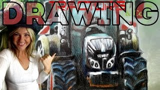 ✍ Speed drawing of a tractor FENDT 720