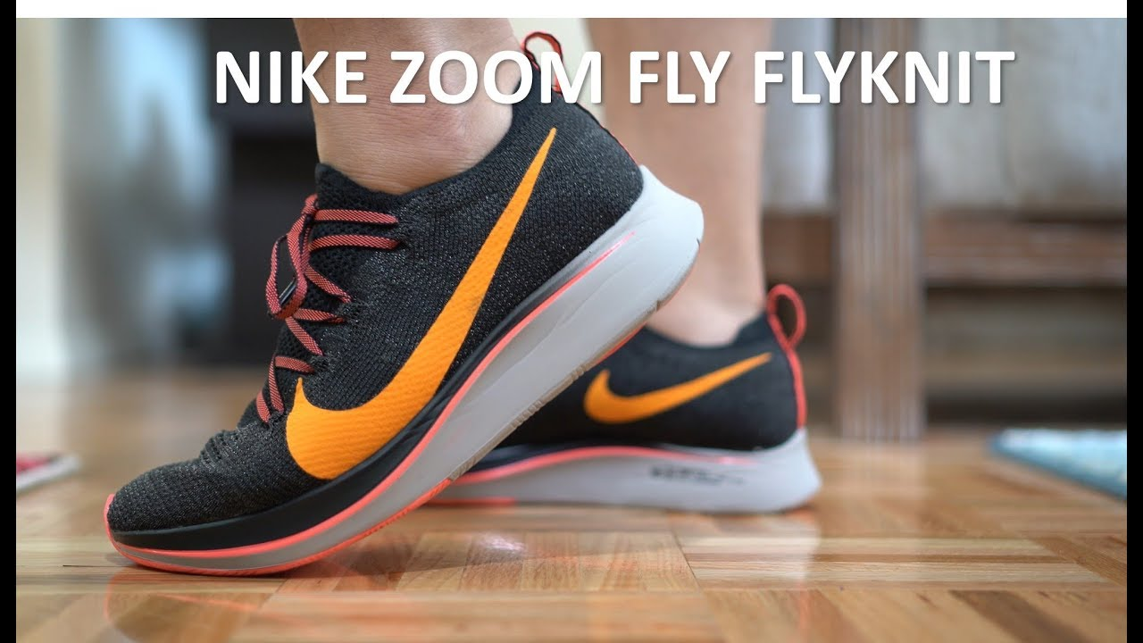 60076dce9185 Carbon fiber in a shoe ! Nike Zoom Fly Flyknit - Casual runner Review Onfeet