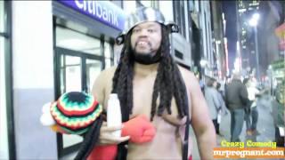 NEW YORK CITY - Man In Panties Walkathon - red victoria secret lingerie - 15 (34th st Penn Station)