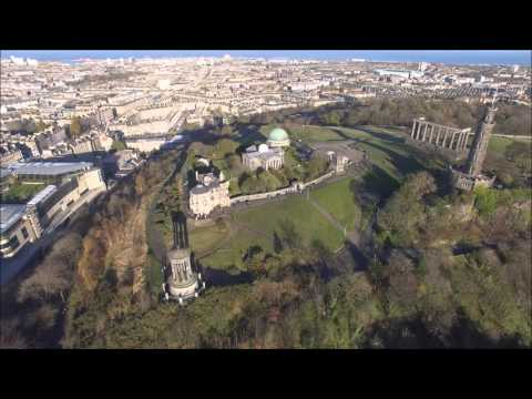 View from above - Calton Hill, Edinburgh