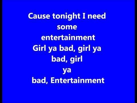 Sean Paul- Entertainment REMIX. LYRICS ON SCREEN