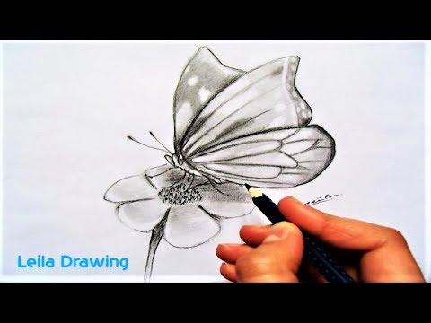 Dessiner un papillon monarque speed drawing youtube - Dessine un papillon ...