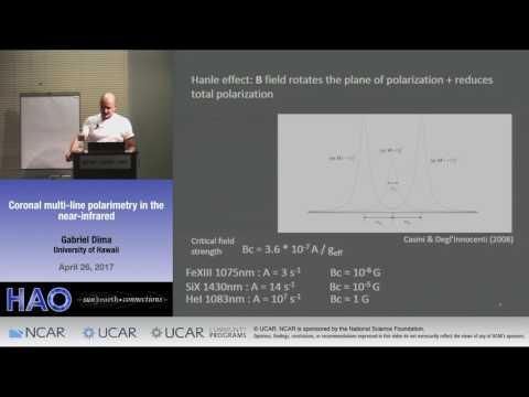 Gabriel Dima | University of Hawaii | Coronal Multi Line Polarimetry in the Near Infrared