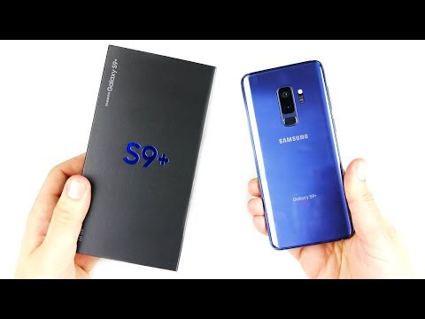 Samsung Galaxy S9 Plus Unboxing (Coral Blue)