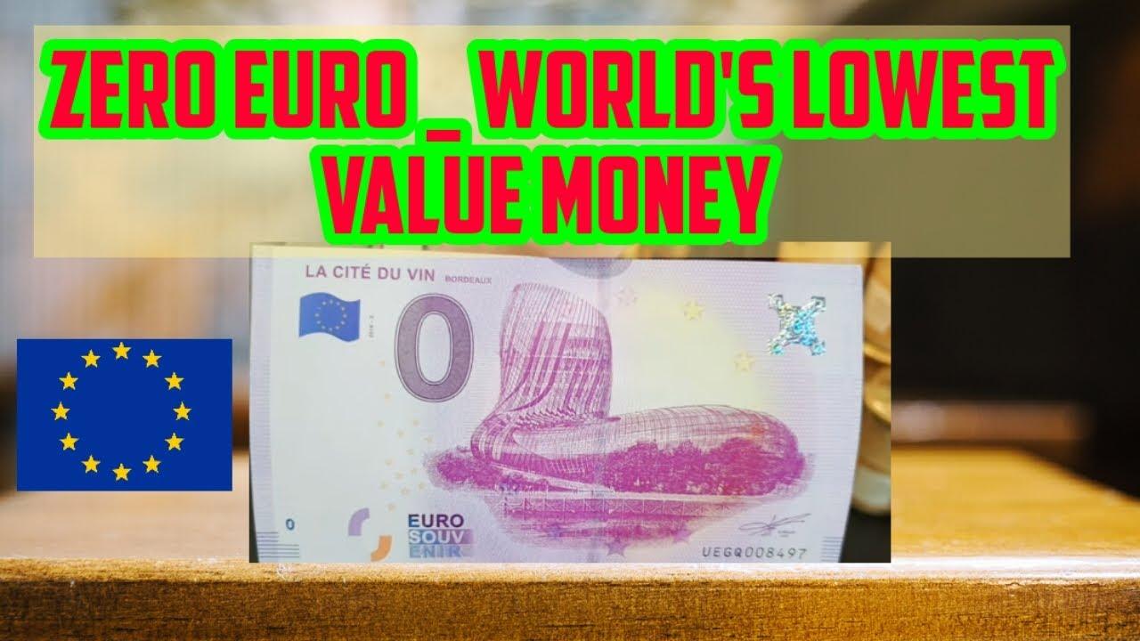 Lowest Value Money Bill
