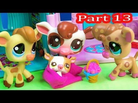LPS Meet The New Baby - Kream's Ice Creamery Littlest Pet Shop Part 13 Video  Series Cookieswirlc