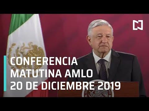 Conferencia matutina AMLO - Viernes 20 de diciembre 2019