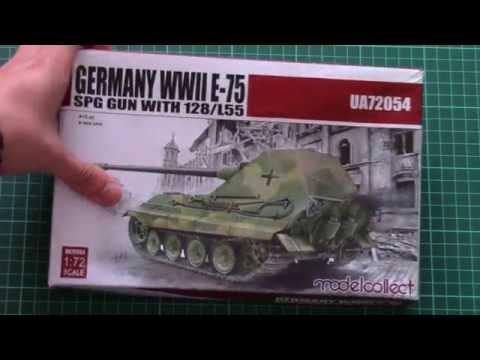 Modelcollect 1/72 E-75 SPG Gun with...
