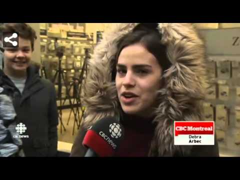 My Second Television Appearance CBC News- Black Friday in Quebec Montreal