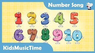 Number Song 1 to 10 | Nursery Rhymes | Learn to Count | KidsMusicTime