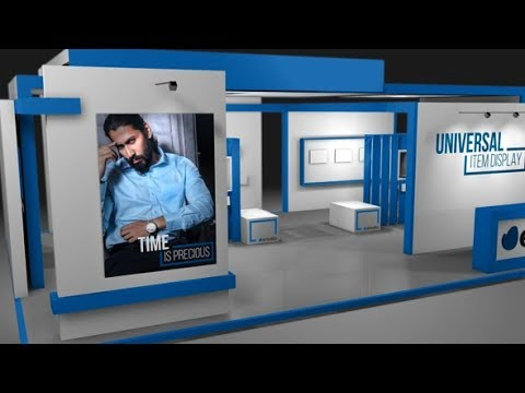 After Effects Template: Universal Exhibition Concept Item Display