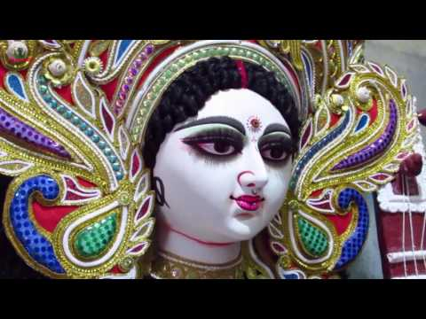 SARASWATI PUJA KOLKATA, INDIA 2017 || PRATIMA AT KUMORTULI PART 2
