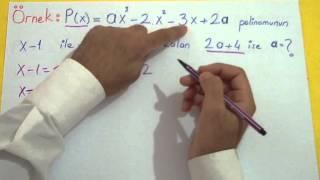 Polinomlar 3 Şenol Hoca Matematik