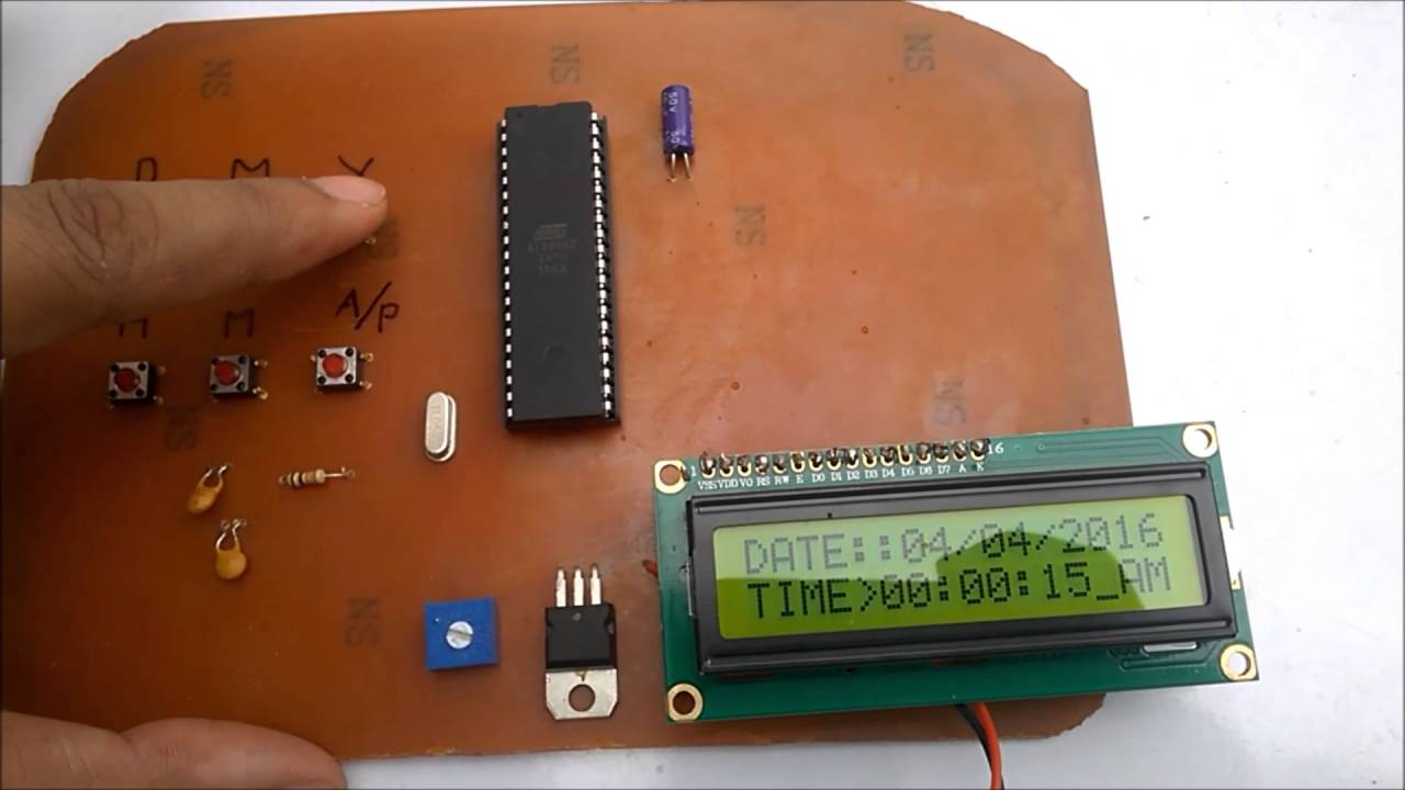 Digital clock using 8051 microcontroller | Part-1 by 5volt solution